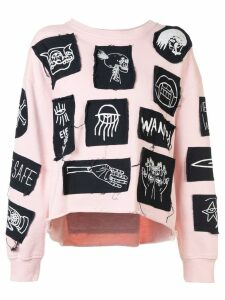 Haculla Stabat it patch sweatshirt - PINK