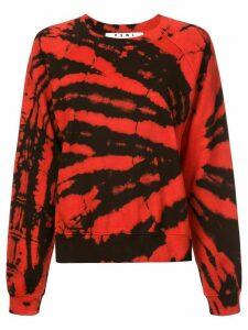 Proenza Schouler PSWL Tie Dye Sweatshirt - Red