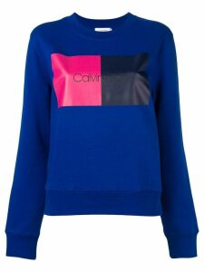 Calvin Klein colour block sweatshirt - Blue