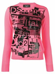 Dsquared2 logo print sweater - Pink