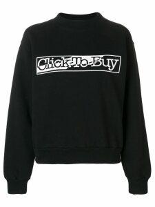 Aries Click to Buy sweatshirt - Black