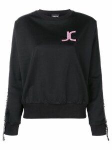 Just Cavalli logo patch sweatshirt - Black