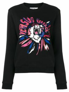 Versus logo print sweatshirt - Black