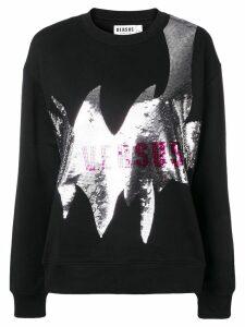 Versus logo sequin sweatshirt - Black