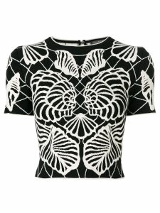 Alexander McQueen Spine Shell top - Black