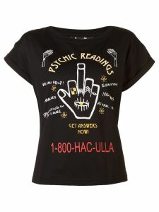 Haculla Psychic Readings print T-shirt - Black