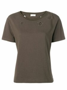 Saint Laurent cut out stars T-shirt - Green