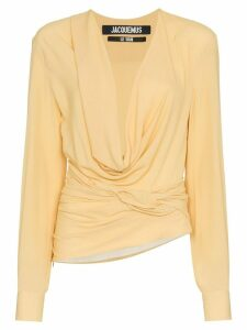 Jacquemus cowl neck long sleeved top - Yellow