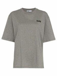 GmbH x Browns logo print T-shirt - Grey