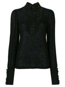 Pierre Balmain embellished top - Black