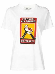 Fiorucci printed round neck T-shirt - White