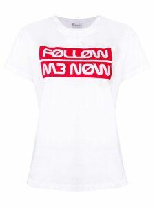 Red Valentino lettering logo print T-shirt - White