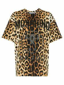Moschino logo leopard-print T-shirt - 1888 Animalprint