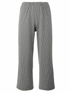 Prism Houndstooth cropped trousers - Black
