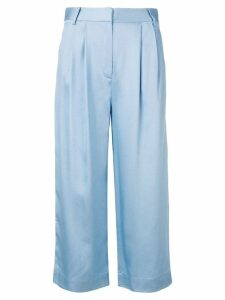 Tibi cropped pleat trousers - Blue