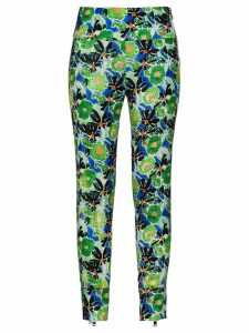Prada Technical floral trousers - Green
