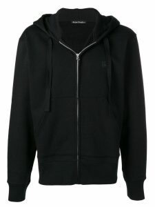Acne Studios Ferris Zip Face hooded sweatshirt - Black
