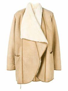 A.N.G.E.L.O. Vintage Cult 1980's oversized short coat - Neutrals