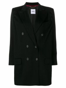 Moschino Pre-Owned 2000's double breasted coat - Black