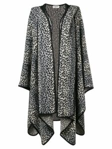 Yves Saint Laurent Pre-Owned 1980's animal print poncho - Grey