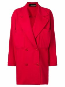 Fendi Pre-Owned double breasted coat - Red