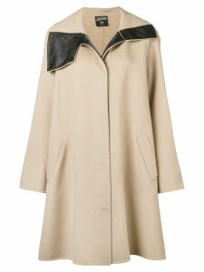 Jean Paul Gaultier Pre-Owned 1990's flared midi coat - Neutrals
