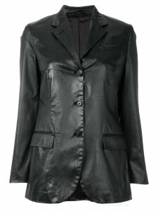 Helmut Lang Pre-Owned notched lapel buttoned jacket - Black