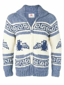 A.N.G.E.L.O. Vintage Cult 1990's chunky knitted zip sweater - Blue
