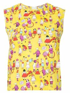 Chanel Pre-Owned patterned sleeveless blouse - Yellow