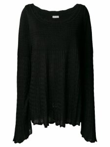 Alaïa Pre-Owned 1990's knitted empire blouse - Black