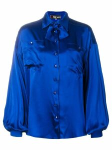 Fendi Pre-Owned pussybow blouse - Blue