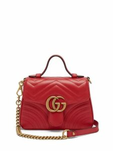 Gucci - GG Marmont Quilted-leather Cross Body Bag - Womens - Red