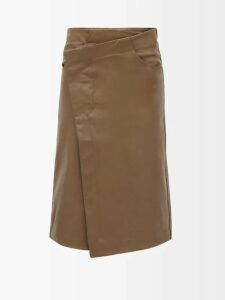 Thierry Colson - Teresa Embroidered High Neck Blouse - Womens - White Navy
