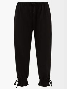 Anaak - Striped Keyhole-yoke Cotton Blouse - Womens - Grey White