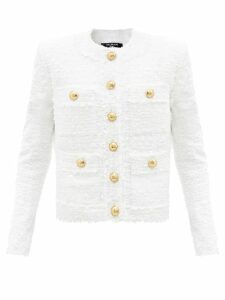 Thierry Colson - Tamara Tree Of Life Embroidered Wrap Crop Top - Womens - White Navy