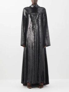 Gucci - Floral And Tassel Print Silk Twill Blouse - Womens - Black Print