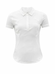Saint Laurent - Heart-print Silk Georgette Blouse - Womens - Black White