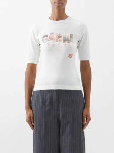 Saint Laurent - Leopard Print Silk Georgette Blouse - Womens - Leopard