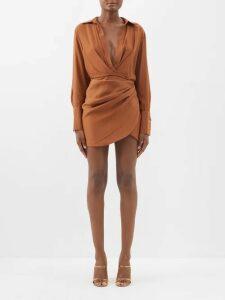 Ganni - Cameron Polka Dot Print Blouse - Womens - White
