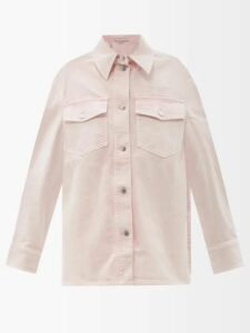 Calvin Klein 205w39nyc - Roll Neck Cotton Blend Top - Womens - Red