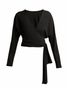 Norma Kamali - Dolman Wrap Top - Womens - Black