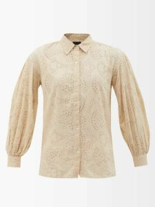 Proenza Schouler - Striped Cotton-blend Cropped Top - Womens - Black Stripe