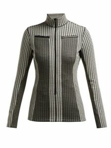Proenza Schouler White Label - Gingham Jersey Top - Womens - Black White