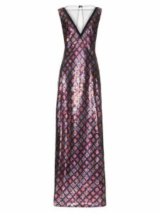 Marc Jacobs - Tulle-panel Sequin-embellished Gown - Womens - Navy Multi