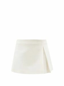 Rebecca De Ravenel - Dotty-print One-shoulder Silk Bustier Top - Womens - Red
