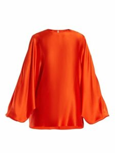 Roksanda - Flora Silk-satin Top - Womens - Orange
