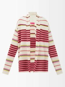 Proenza Schouler - Balloon-sleeved Cashmere-blend Sweater - Womens - Black