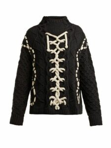 Spencer Vladimir - On Deck Merino Wool Blend Sweater - Womens - Black White