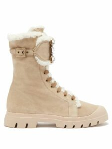 Chloé - Balloon Sleeve High Neck Chunky Wool Blend Sweater - Womens - Red