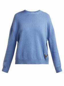 Valentino - Cashmere Sweater - Womens - Light Blue